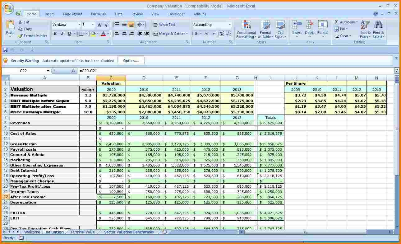 Business Budget Template Excel In the event that you