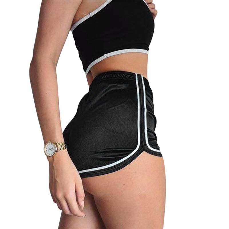 a1c5c3427f7 Womens Fashion High Waist Slim Fit Elastic Silk Booty Shorts | Dream ...
