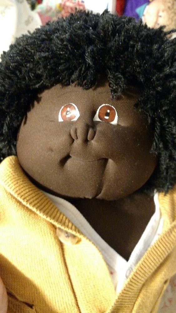 1980s fudge softie boy soft sculpture African American cabbage patch ...