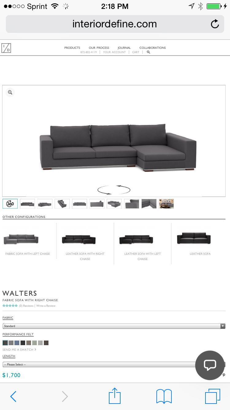 http://www.centsationalgirl.com/ Contest http://www.interiordefine.com/shop/walters#Z-DONI-96-A Walter Sofa