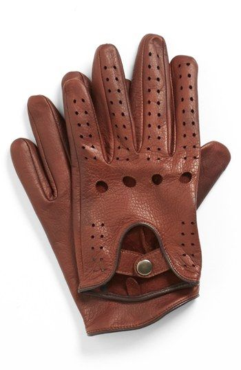98b54d545e John W. Nordstrom® Leather Driving Gloves