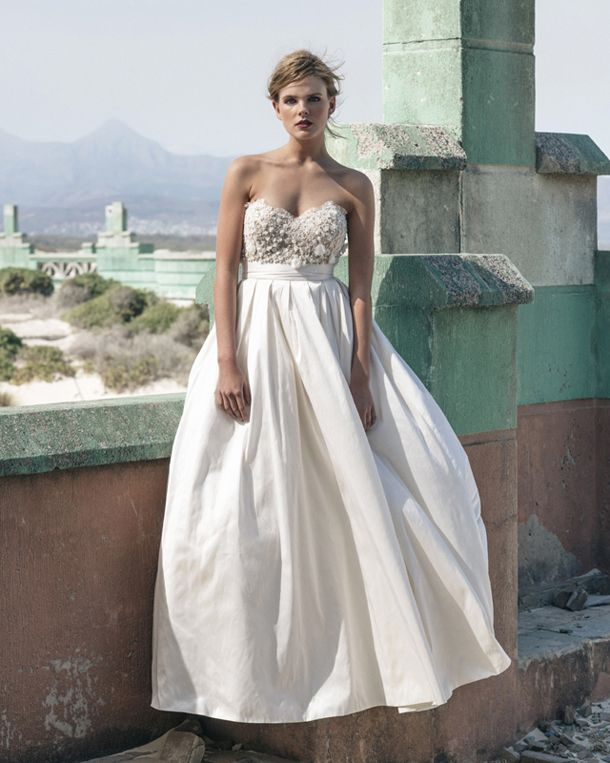 8a847ee2db6 Dress Code DRS016 - Rose by Elbeth Gillis. Ball-Gown with a nude-look  Chantilly lace bodice
