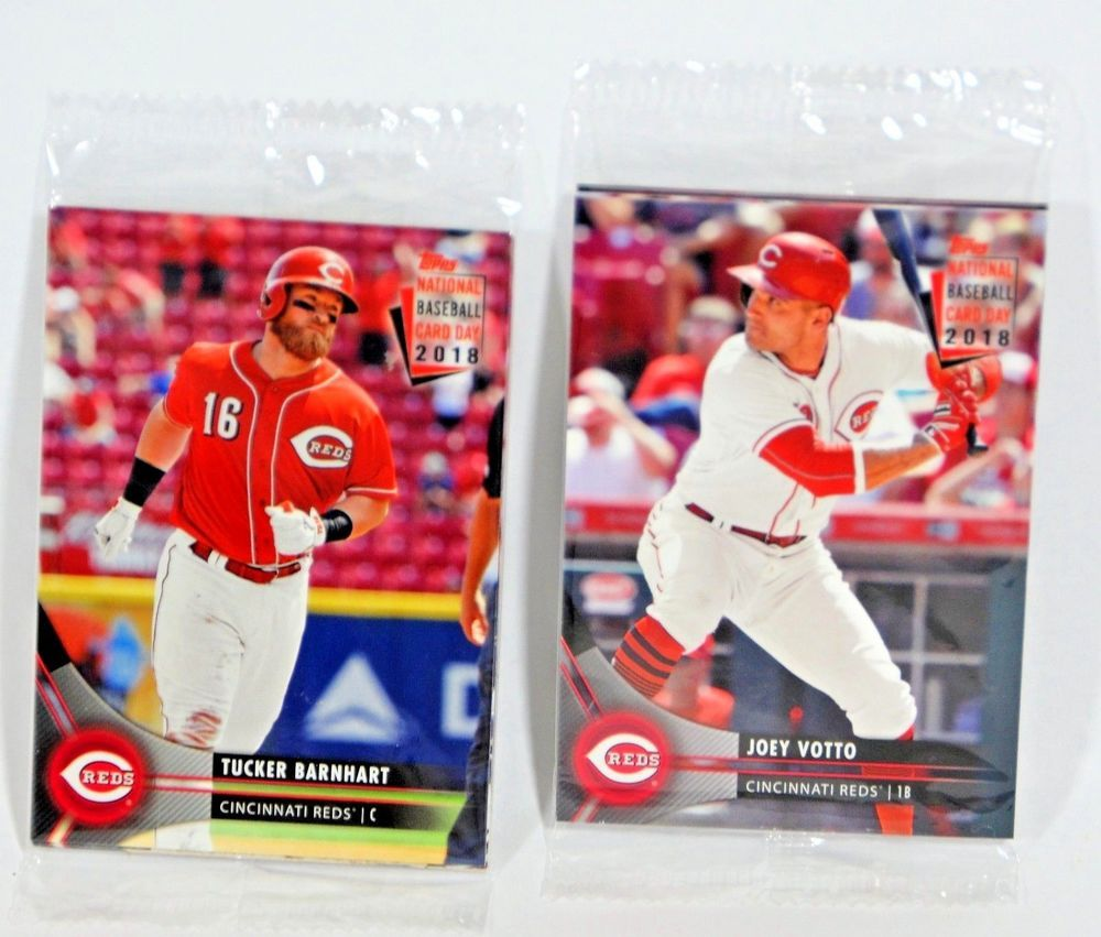 2018 Cincinnati Reds Sga Topps National Baseball Card Day 2