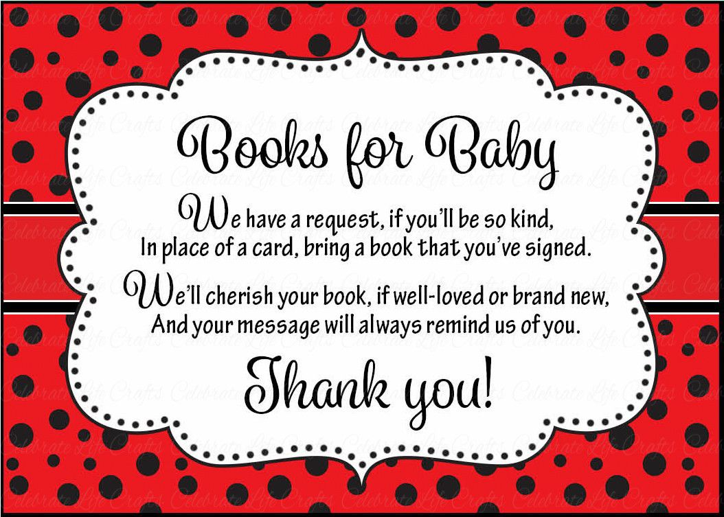 Books for Baby Cards - Printable Download - Red Black Ladybug Baby ...