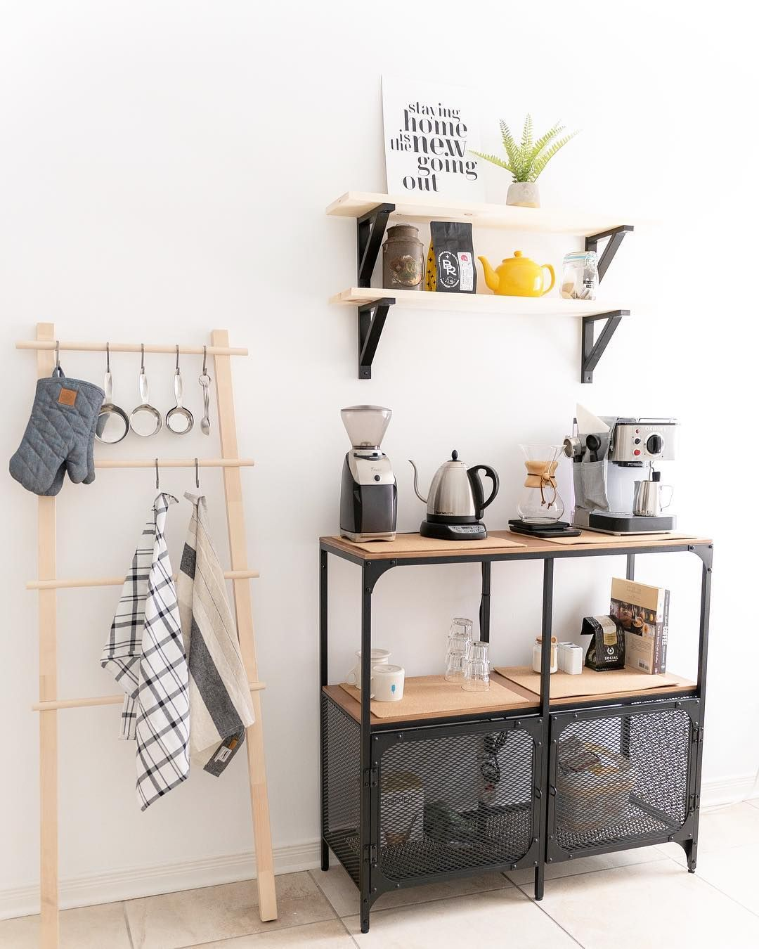 Ikeainspo Fan Gallery And Inspiration Coffee Bar Home Home Coffee Stations Bars For Home [ 1350 x 1080 Pixel ]