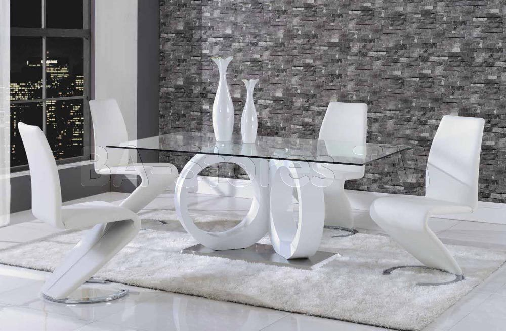 Dining Sets Modern Set Contemporary White Table And 4 Chairs Gl