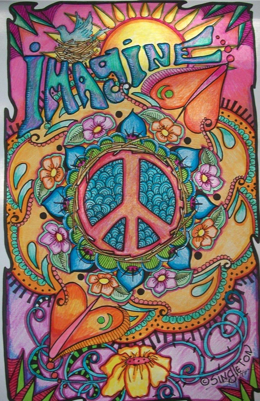 Resultado de imagen para hippie art | Psicodélico | Pinterest ...