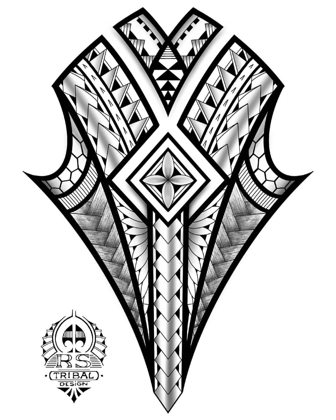 Polynesian Inspired Design Tribaltattoo Polynesiantattoo Maoritattoo Polynesian Polytat Designe Maori Tattoo Polynesian Tattoo Polynesian Tattoo Designs