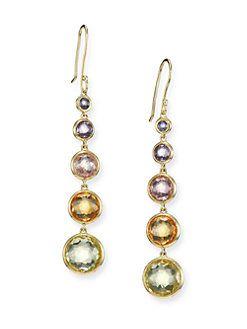 Ippolita 18k Gold Rock Candy Lollitini Earrings in Multi BGVZFBM7YH