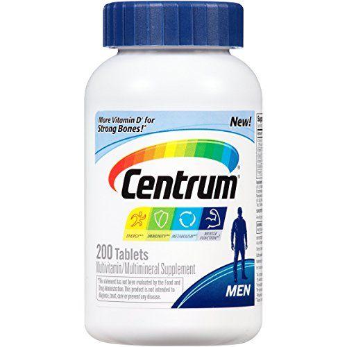 Centrum Men Multivitamin / Multimineral Supplement Tablet Vitamin D3 (200 Count) (Package May Vary) http://ift.tt/2kl2sDD