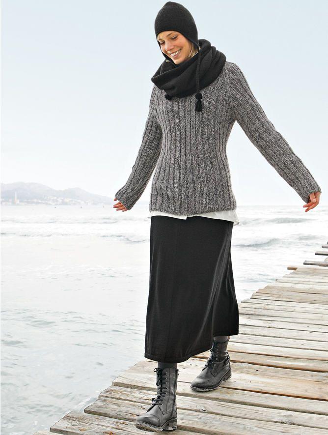 organic merino wool skirt ...
