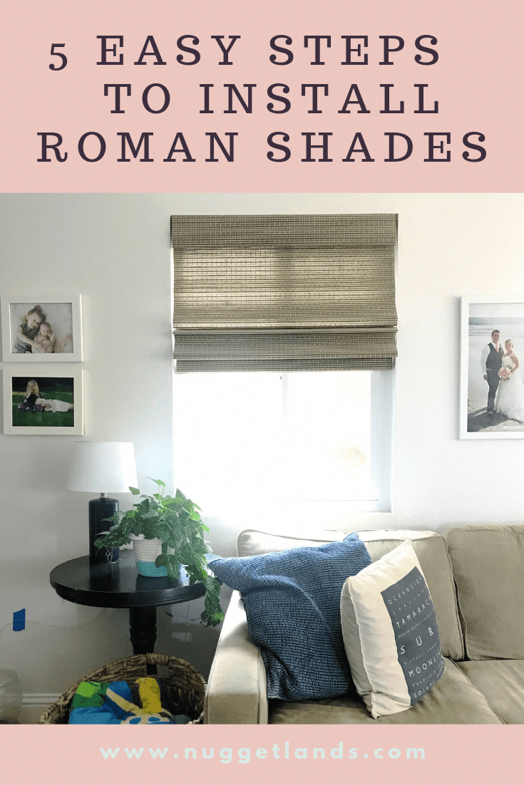 How To Install Roman Shades In 5 Easy Steps These Affordable Window Coverings Are Cordless And An Easy Di In 2020 Roman Shades Living Room Simple Kitchen Remodel Home