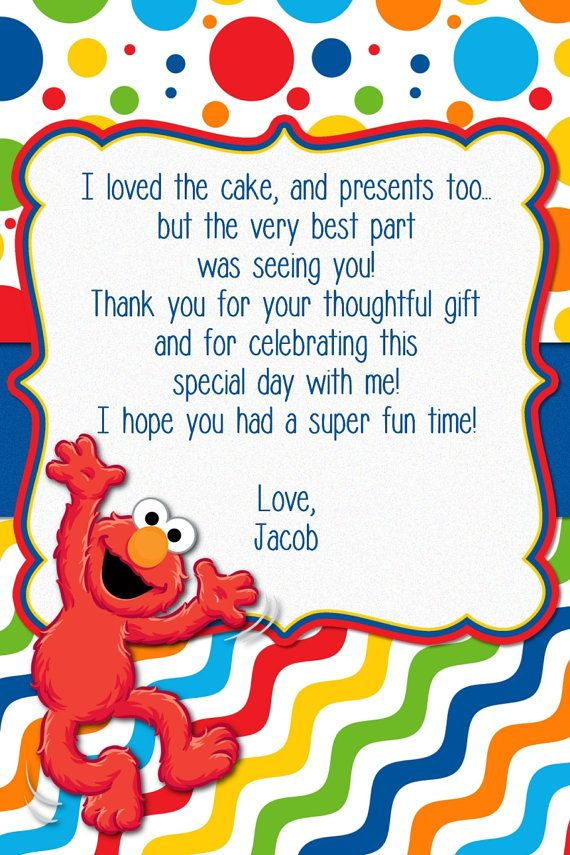 Custom Made Elmo Birthday Invitation By Mybabiesbreath