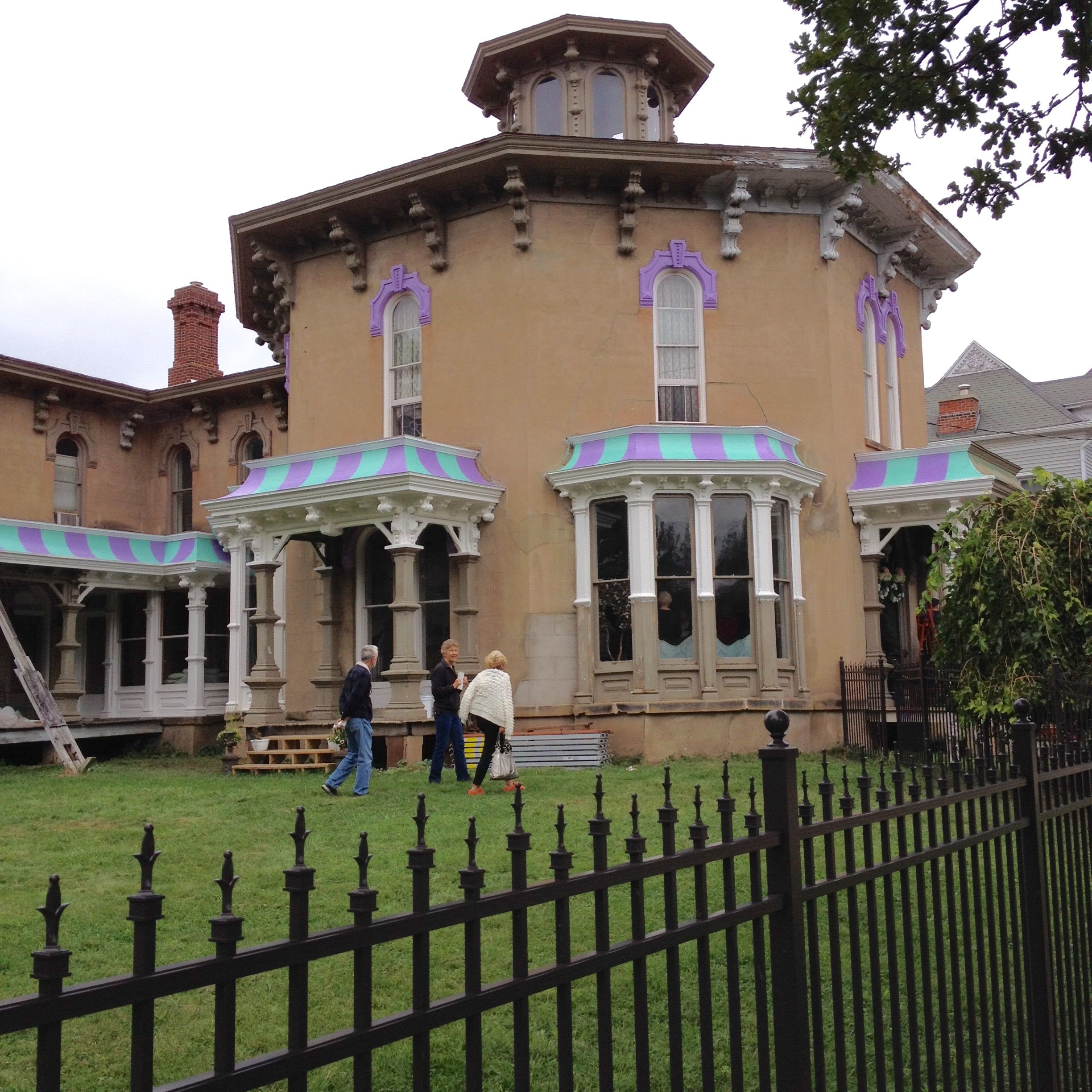 The Octagon House In Marshall Michigan On The 2015 Home Tour Marshall Michigan Octagon House East Lake