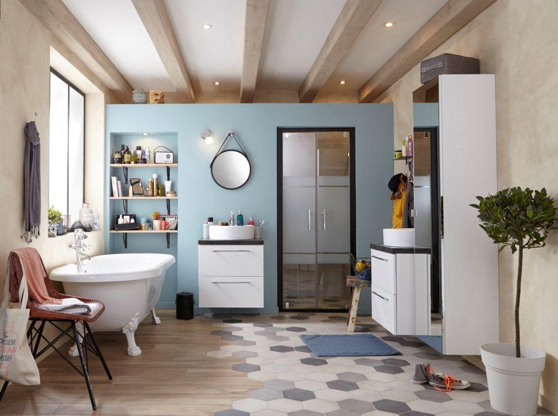 Carrelage hexagonal : les plus belles inspirations | Bath, Lofts and ...