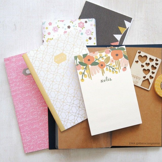 Small notebook mess right now #onmydesk as I'm setting up my #happiedori for summer. Putting to use some of the gorgeous goodies from my #larabox as I'm waiting my #summerbox to arrive. #happiescrappie #fauxdori #notebook #inkroad #theinkroad