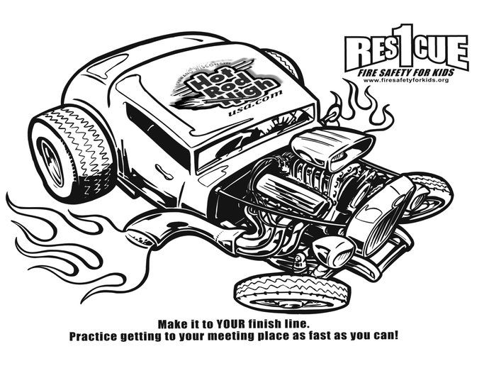 Rat Rod Coloring Pages Hot Wheels Hot Rod Coloring Page Free Rat Fink Coloring Pages