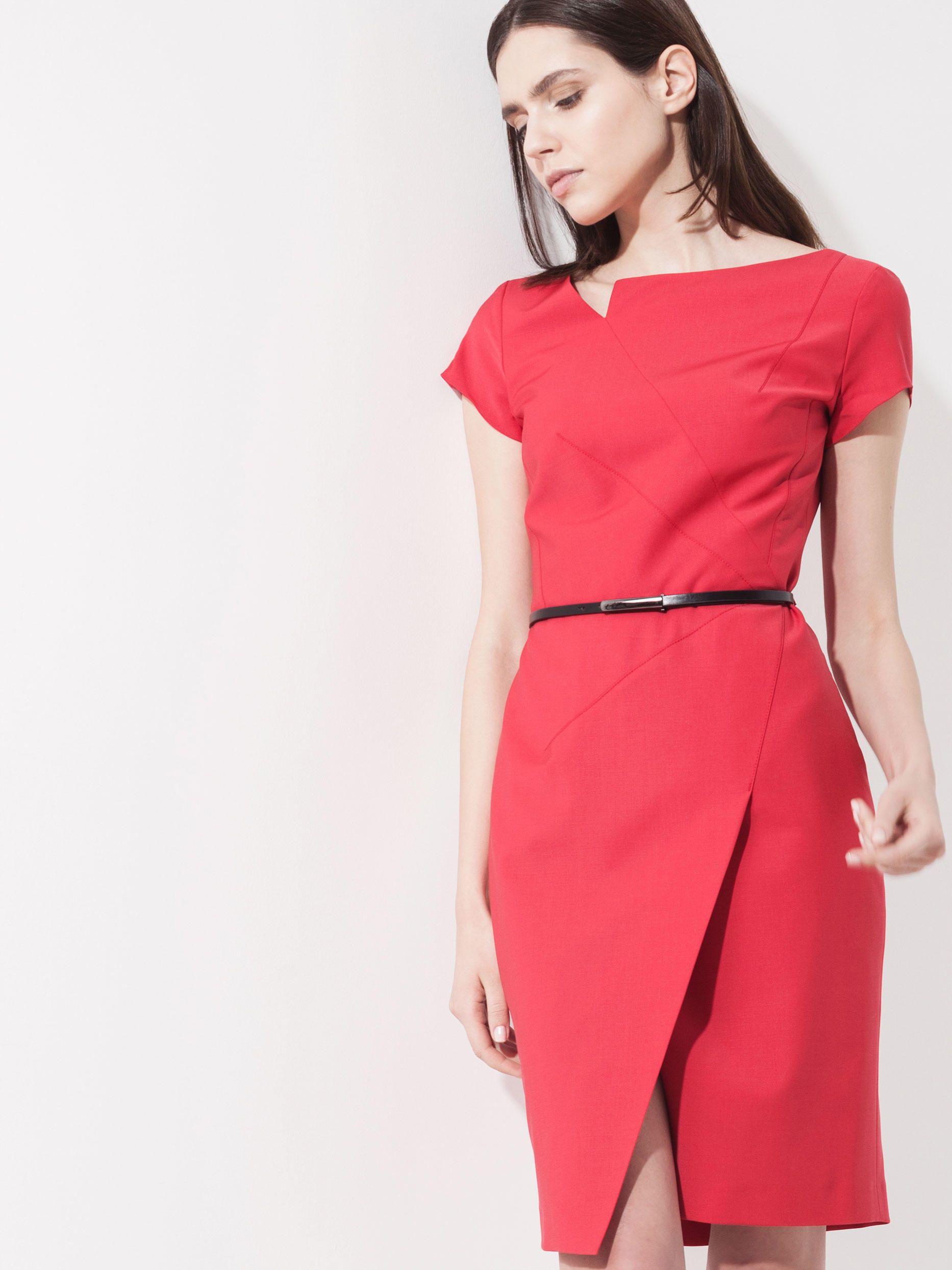 платья с асимметричным вырезом горловины купить