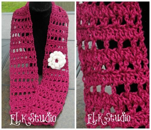 Fresh Air A Free Crochet Summer Scarf Summer Scarves Scarves