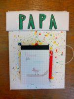 Bricolage Un Porte Bloc Note Pour La Fête Des Papas Papá Pinterest - Porte bloc note