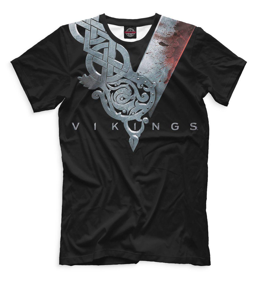T-Shirt Valhalla Skull Wikinger Ragnar Viking Warrior Odin Thor Wiking Vikings