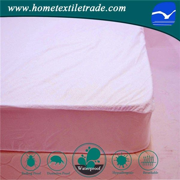 White Hotel Use Allergy Proof Waterproof Terry Cloth Mattress Cover Protector In Maine Https Www Hometextil Mattress Covers Terry Cloth Hot Melt Adhesive