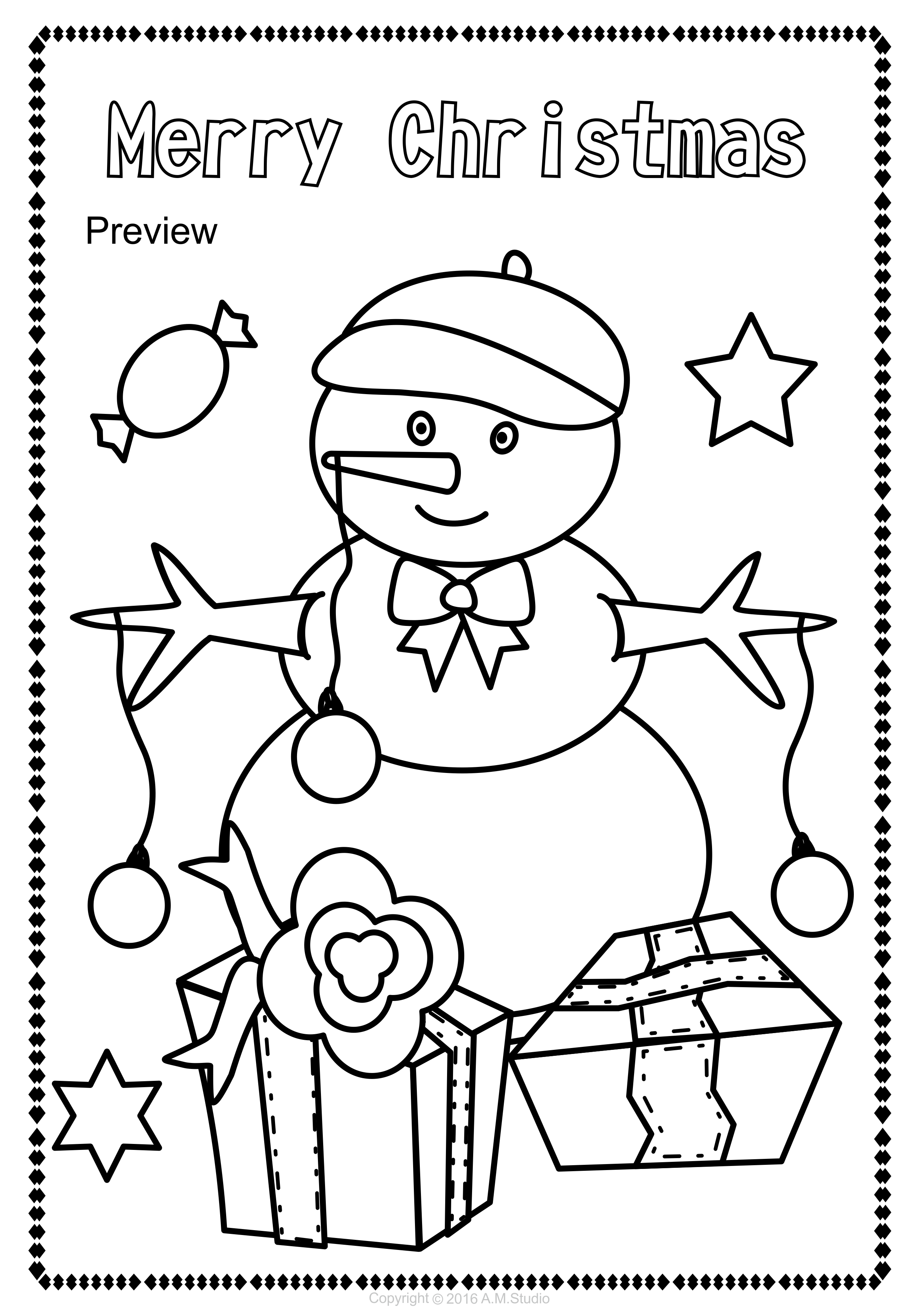 Christmas Coloring Pages Anastasiya Multimedia Studio