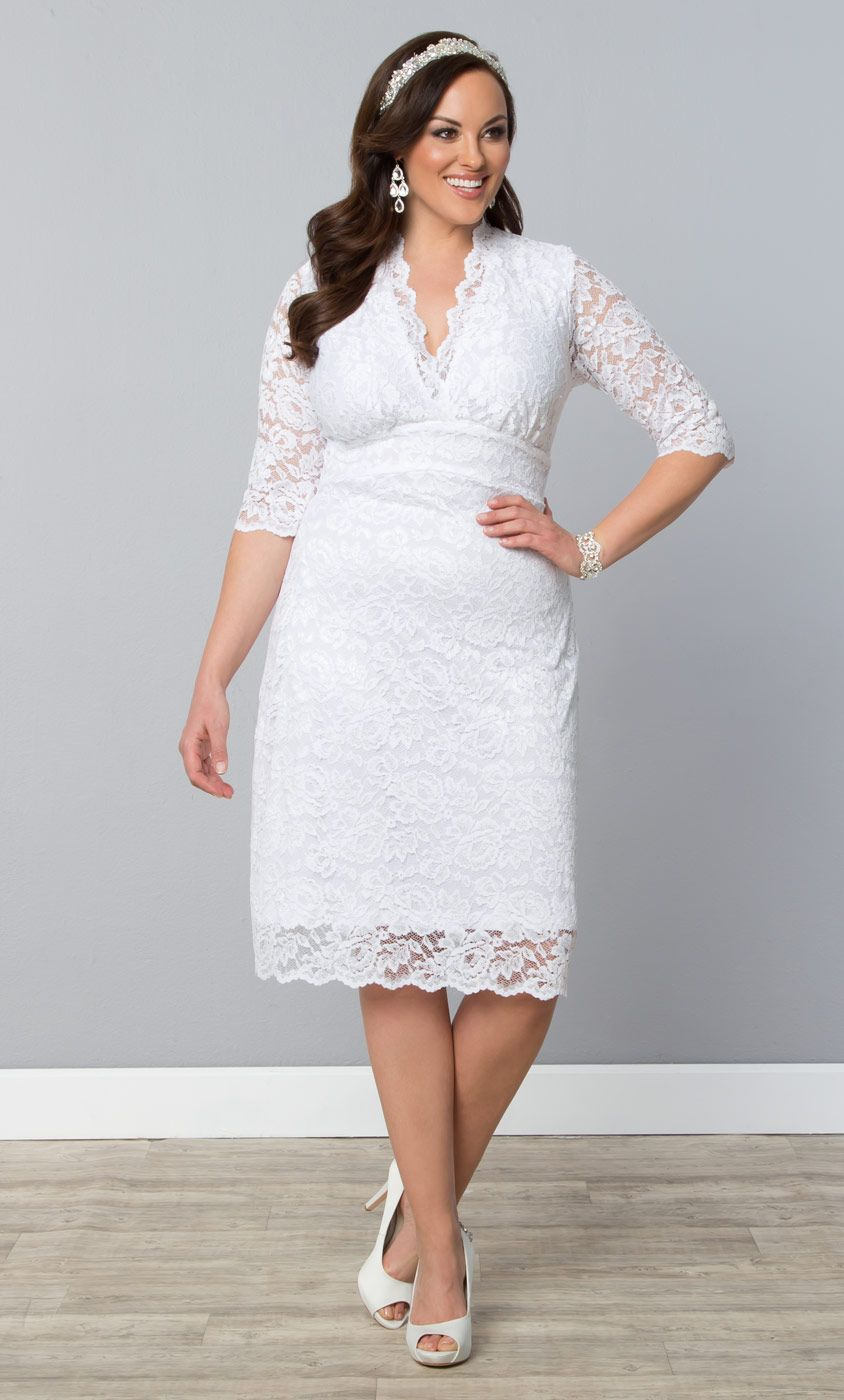 Our Plus Size Luxe Lace Wedding Dress Is A Simply Classic Option For Your Wedding Day Maybe You Just Want To Cocktail Dress Lace Casual Wedding Dress Dresses [ 1400 x 844 Pixel ]