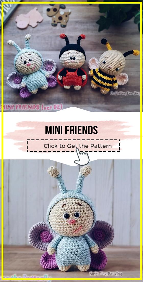 crochet Mini Friends easy pattern