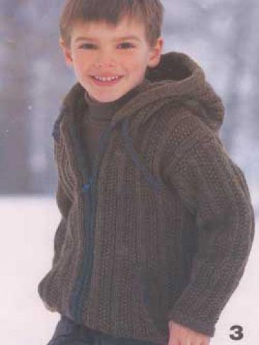 Hooded Jacket For Boy Yarn Free Knitting Patterns Crochet