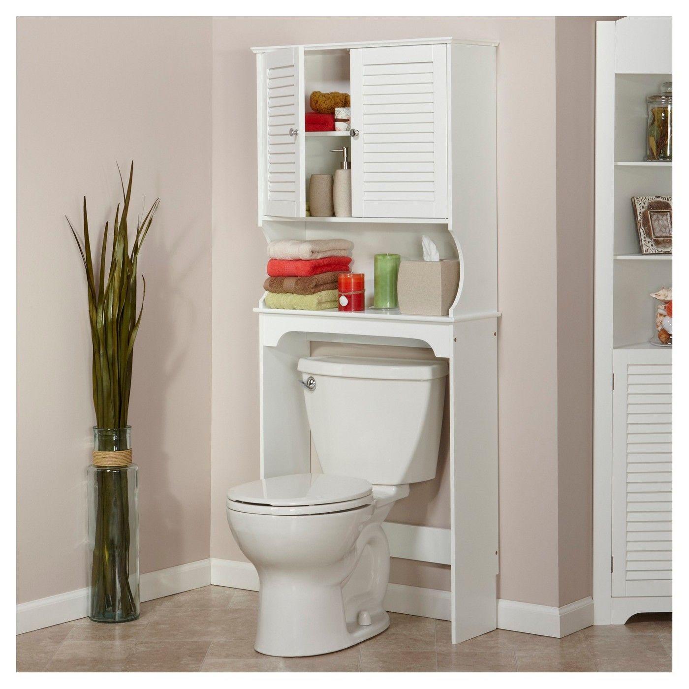 Ellsworth Space Saver Etagere White Espresso Riverridge Image 2 Of 3 Over The Toilet Cabinet Toilet Storage Bathroom Storage Cabinet