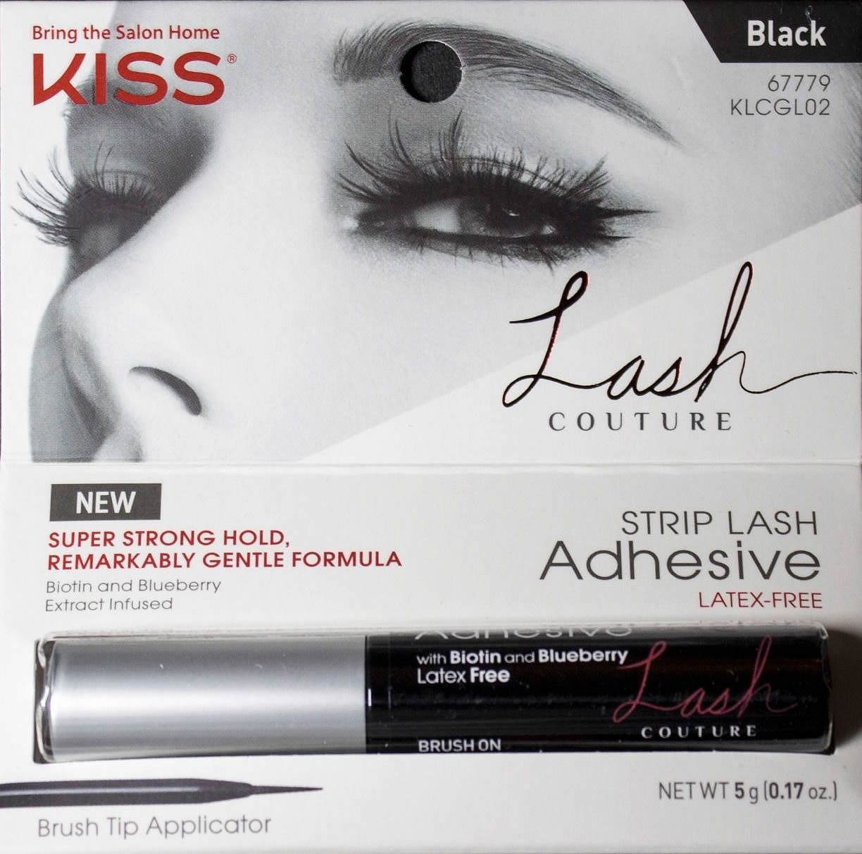 80c9a5c9b85 LASH COUTURE STRIP LASH ADHESIVE - BLACK by Kiss is a latex free adhesive  Infused with Biotin and Blueberry. #madamemadeline #lashcouture