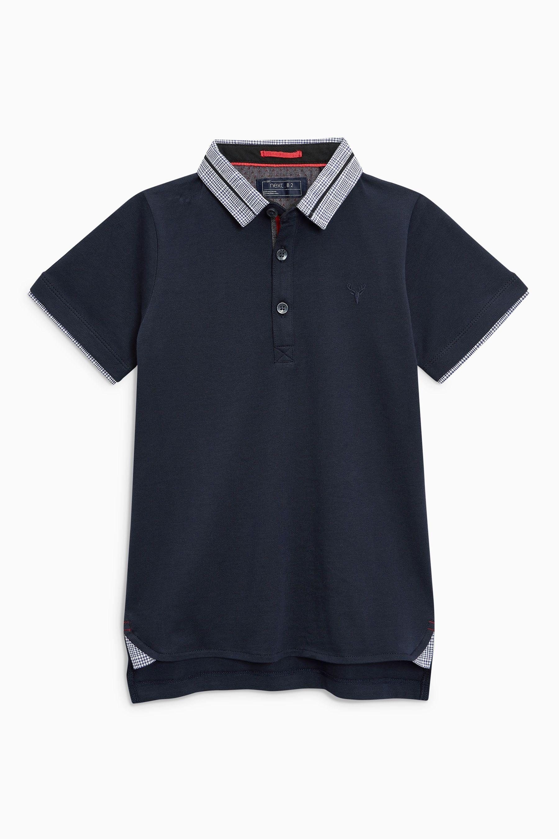 ca904b080 Buy Navy Oxford Collar Poloshirt (3-16yrs) from the Next UK online shop