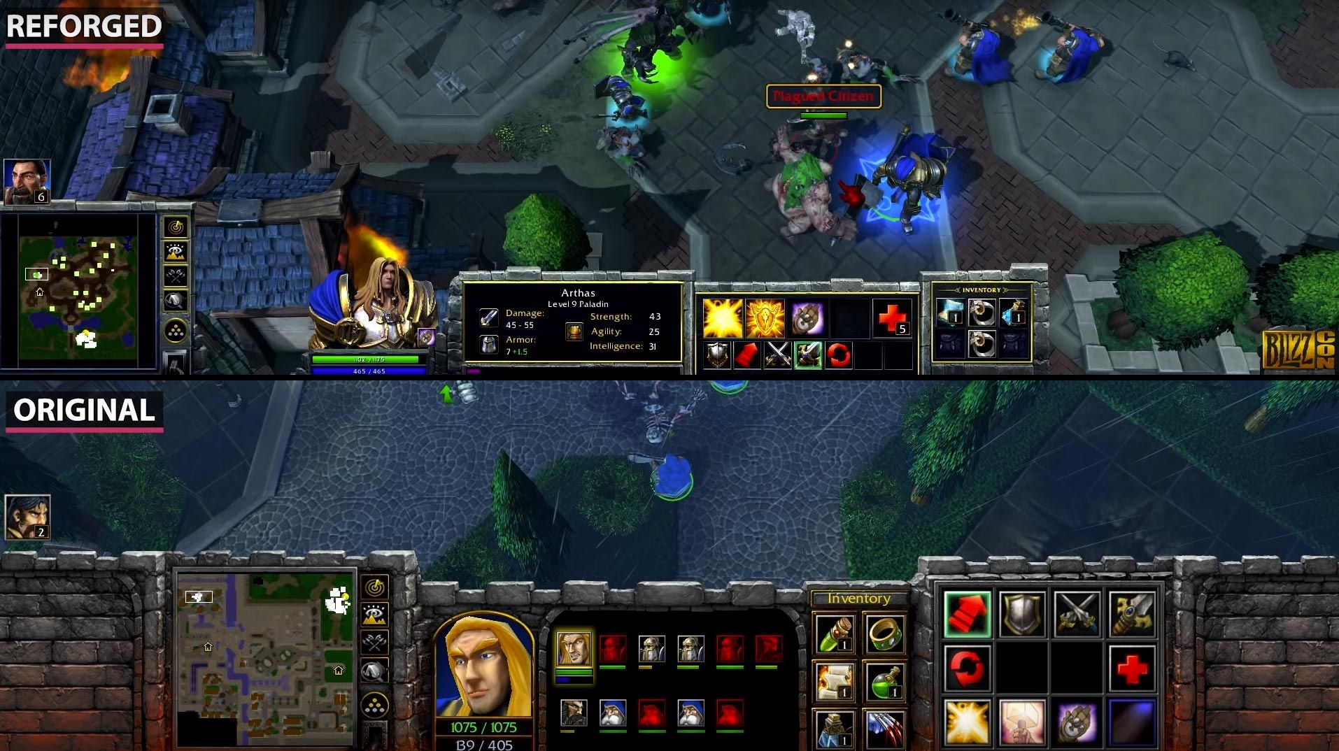 ▷ Warcraft 3 and Warcraft 3 Reforged Comparison (UNITS +