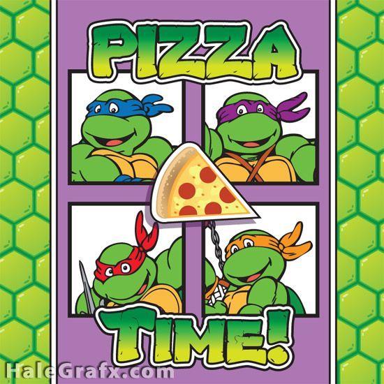 Free Printable Retro Ninja Turtle Pizza Box Cover Ninja Turtles Birthday Party Teenage Mutant Ninja Turtles Birthday Party Teenage Mutant Ninja Turtles Party