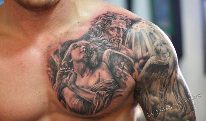 Angels Tattoo On Chest Top Ideas For Tattoo Designs Chest Tattoo Men Chest Tattoo Front Shoulder Tattoos