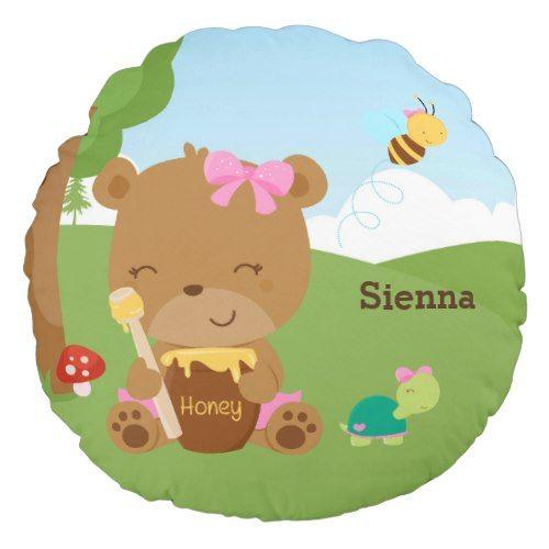 Cute honey bear round pillow Honey bear, Round pillow and Honey