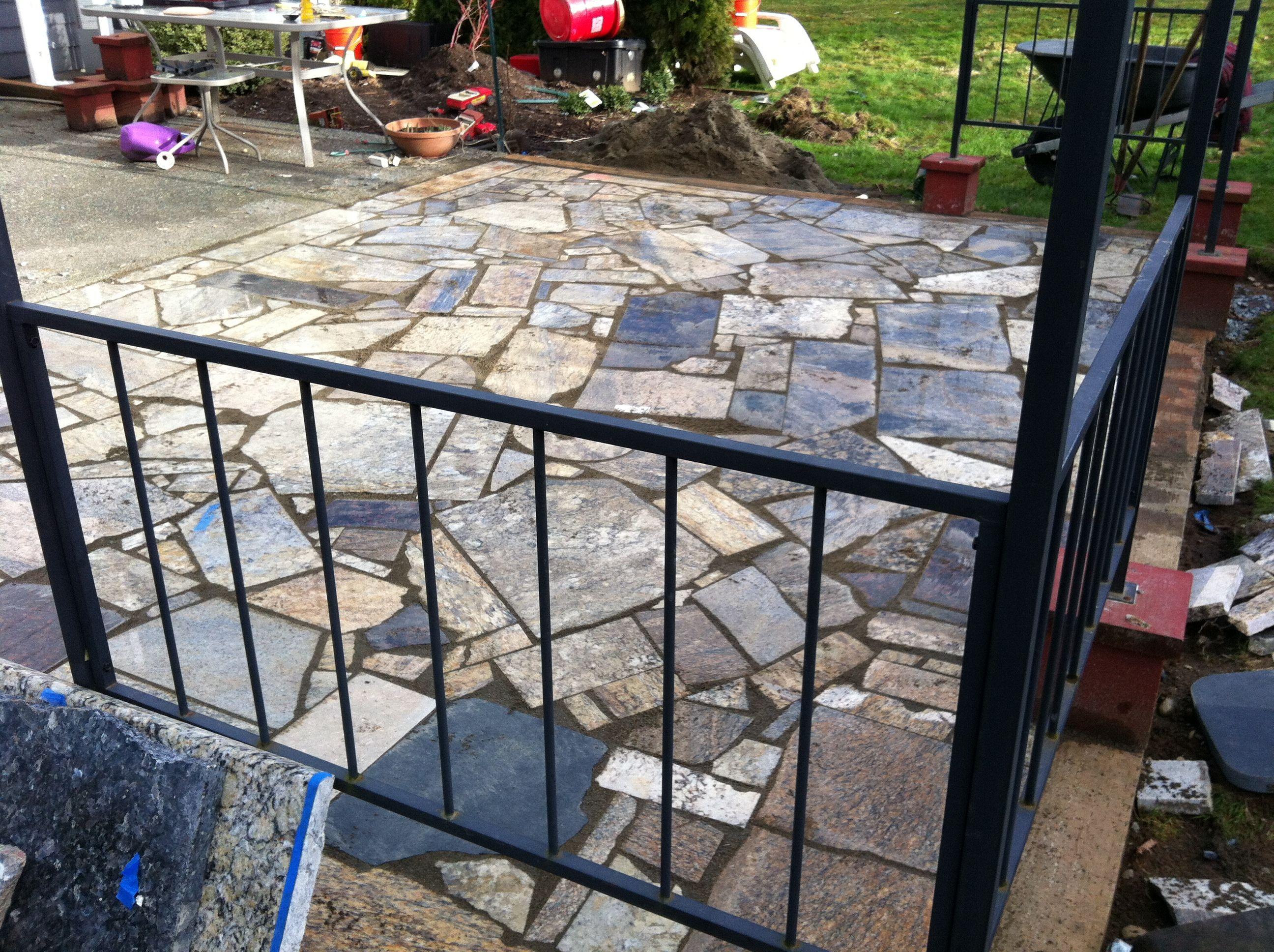 Granite Patio Made From Repurposed Kitchen Counter Scraps