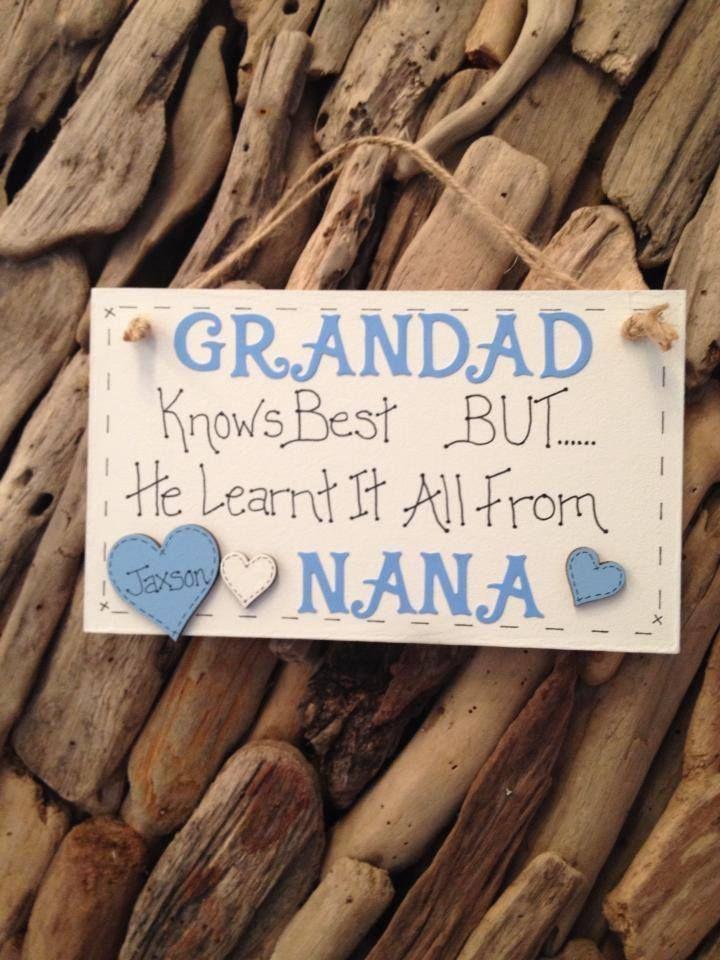 Nana Grandad Pops Gramps Grandma Gran Nan Personalised Plaque ...