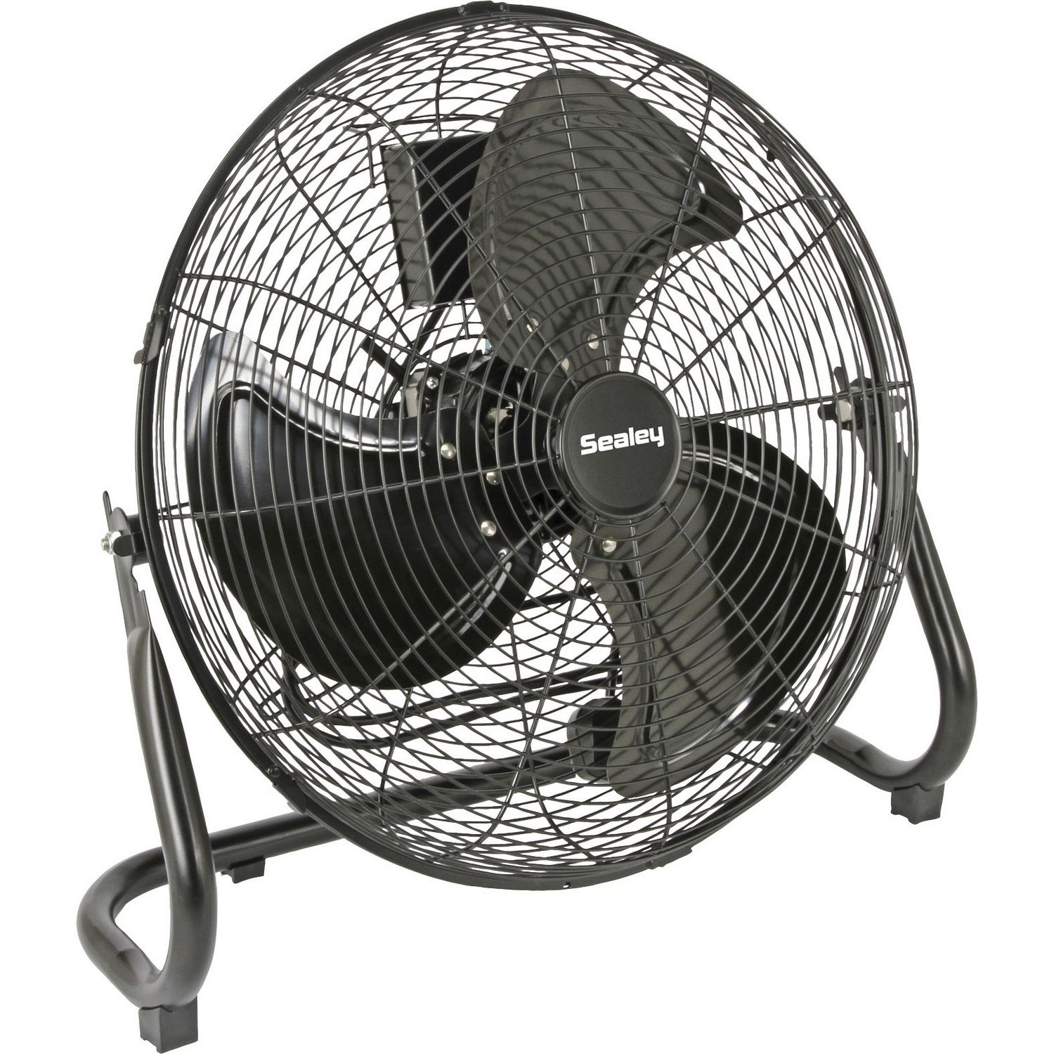 portable floor fan on strong metal leg