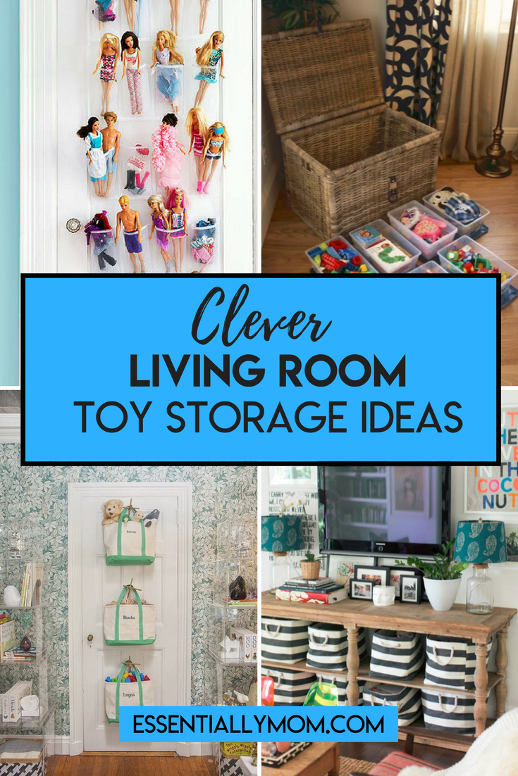 Clever toy storage ideas for the family room that can keep that pesky toy clutter under