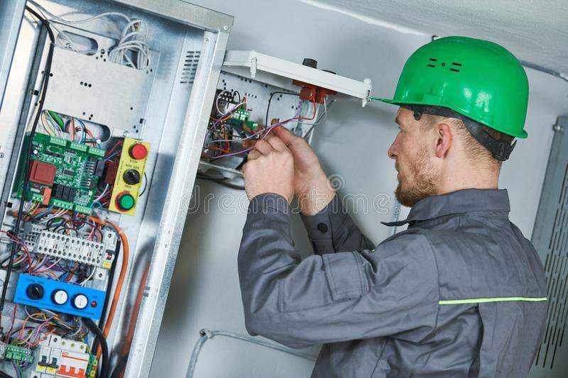 Electrician Make Maintenance In Engine Room Of Elevator Elevator Installation A Affiliate Elevator Elevator Insta Electrician Engineering Maintenance