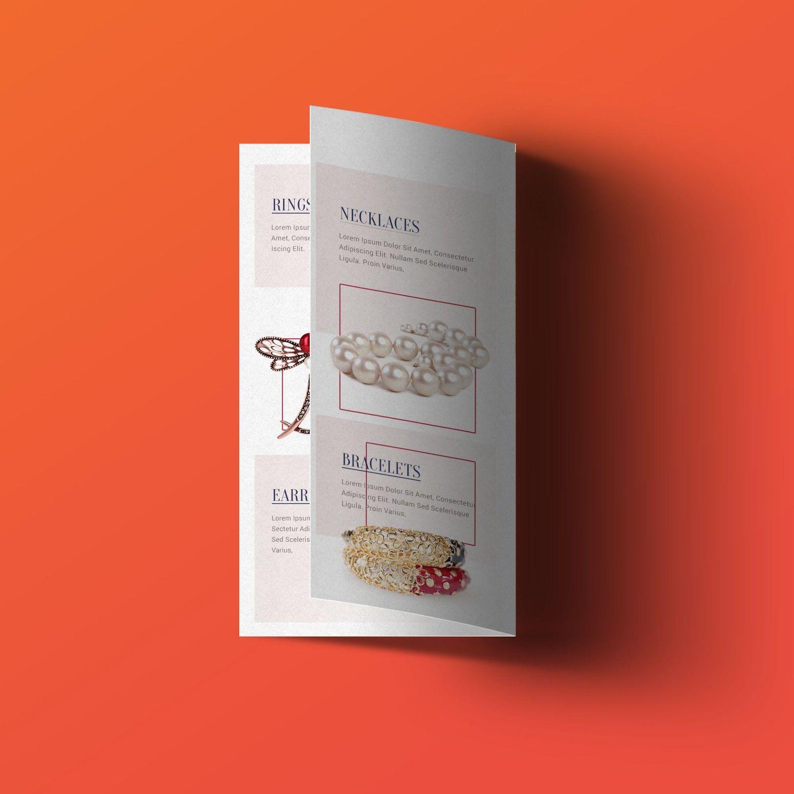 Jewellery Brochure Bi Fold Templates Psd Free Download Visiting