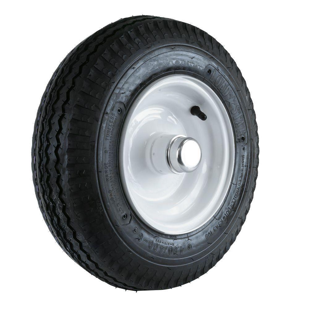 Martin Wheel 480 400 8 Lrb Tire And Wheel With 1 In Bearing For Log Splitter Trailer Hs408b 1i A Log Splitter Trailer Tires Wheelbarrow Wheels