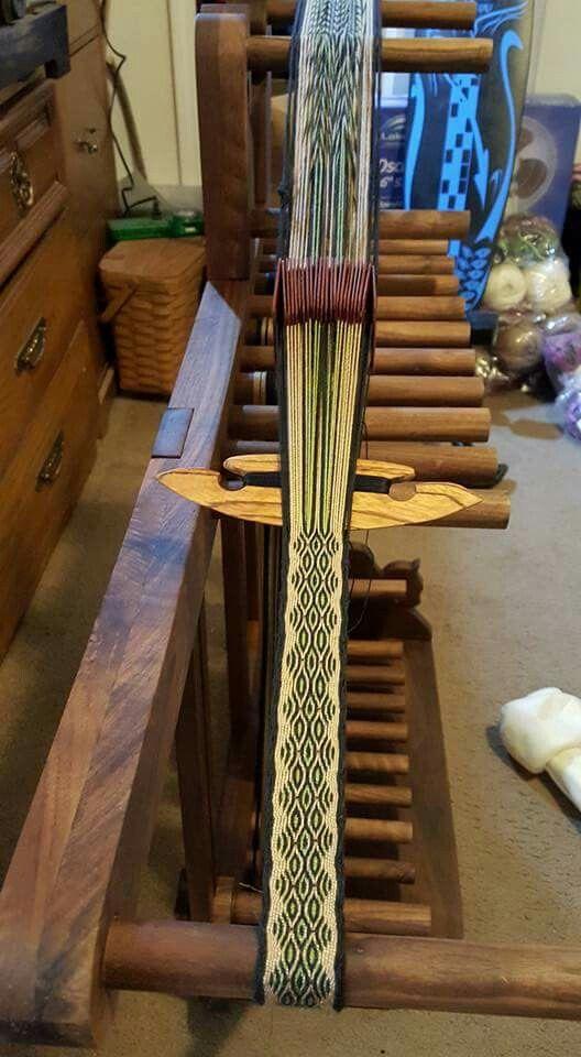 My Beautiful Walnut Card Weaving Loom Weaving Loom Diy Loom Weaving Card Weaving