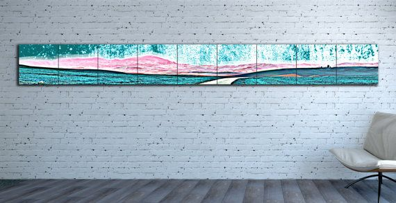 Ready For Hanging Giclee Canvas Print Extra Long Horizontal Modular Landscape Horizontal Abstract Huge Larg Canvas Prints Large Abstract Wall Art Canvas Giclee