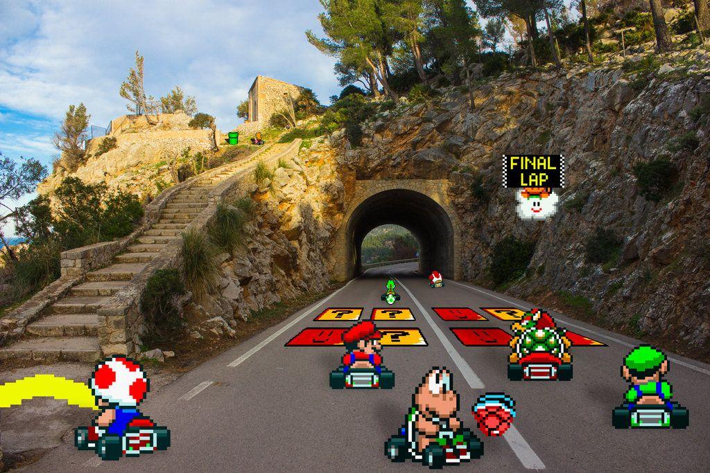 Real Bits Super Mario Kart Vanilla Mountain By Victorsauron Deviantart Com On Deviantart Super Mario Kart Mario Kart Super Mario