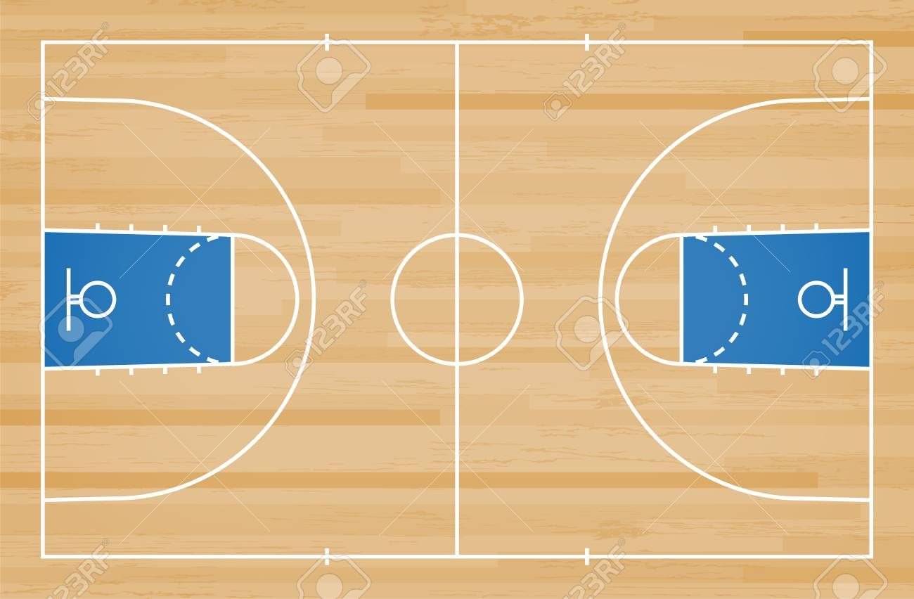 Basketball Court Floor With Line On Wood Pattern Texture Background Basketball Field Vector Illustration Wood Patterns Textured Background Textures Patterns