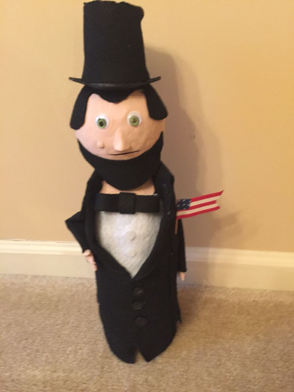 Bottle Buddy Abraham Lincoln & Bottle Buddy Abraham Lincoln | School crafts | Pinterest | Abraham ...