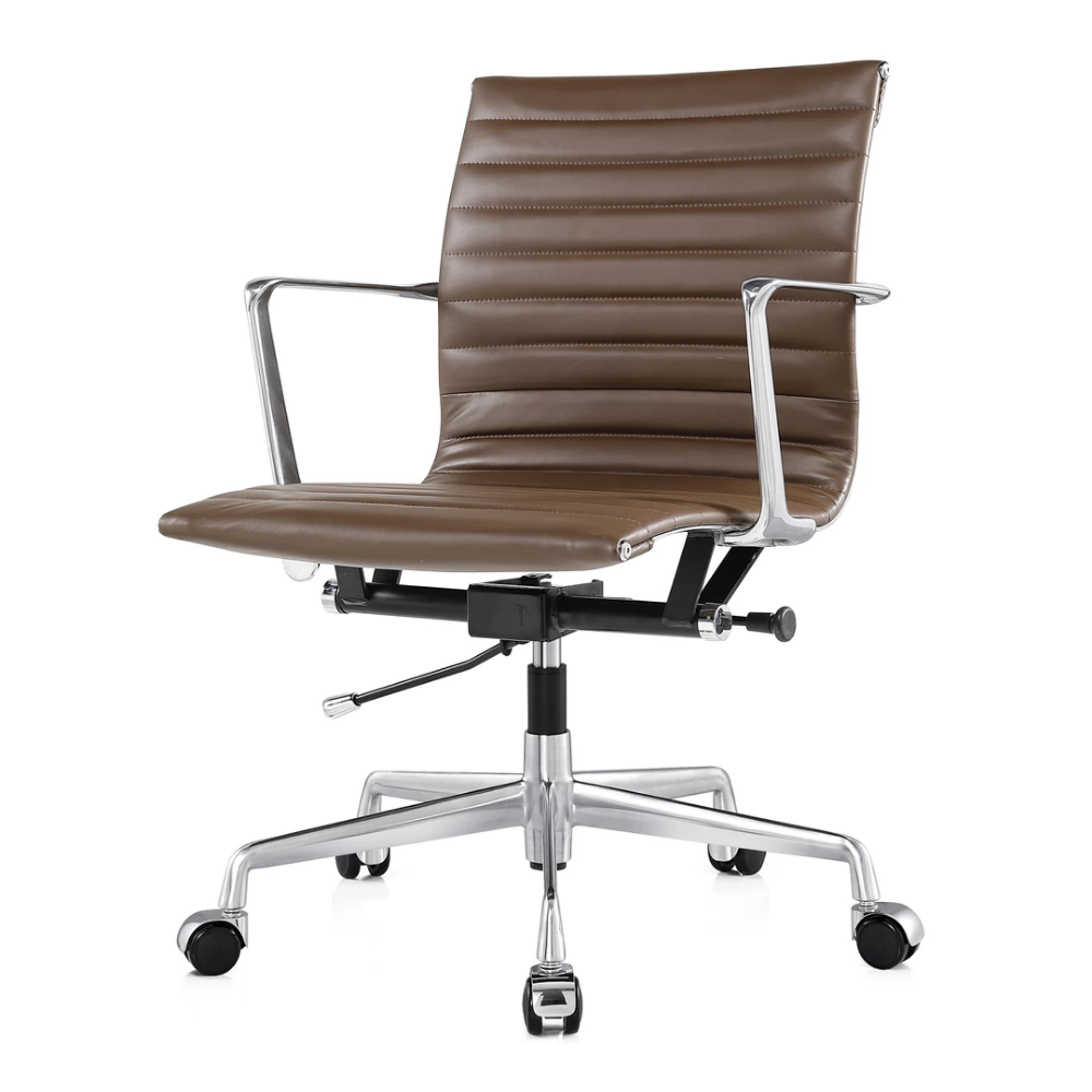 M5 Modern Office Chair In Aniline Leather Meelano Darker Brown Out Of Stock On Allmodern But Great Reviews 20 Off So 280 Light Brown Same M Anilina